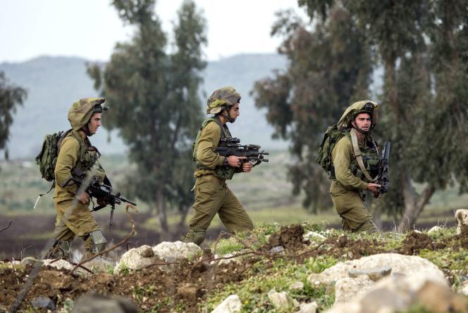 Une patrouille israélienne dans le Golan, le 18 janvier 2015.