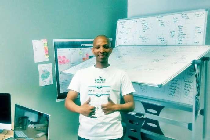 Thuto Paul, le fondateur de la start-up Modisar au Botswana.