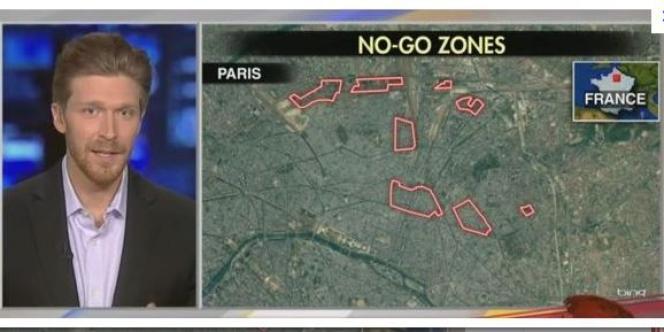 Le journaliste de Fox News Nolan Peterson a affirmé, cartes à l'appui, qu'il y avait à Paris des zones de non-droit interdites aux non-musulmans et où la police ne mettait pas les pieds.
