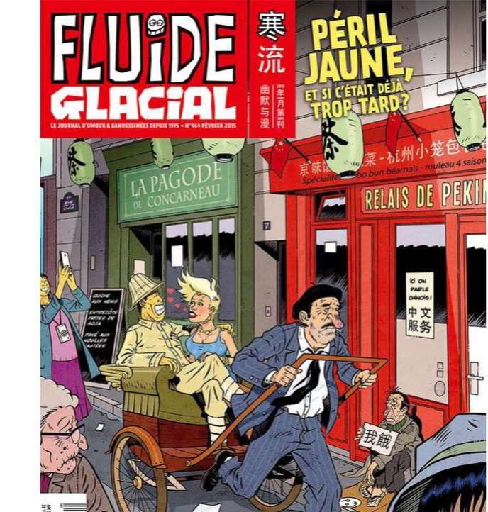 «Fluide glacial» publie en «une» un dessin titré «Péril jaune, et si c'était déjà trop tard ?»