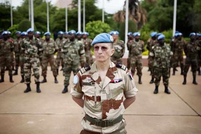 Des soldats de la Minusma, à Bamako, en juillet 2013.