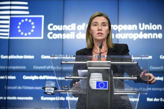 La chef de la diplomatie européenne, Federica Mogherini, le 19 janvier à Bruxelles.