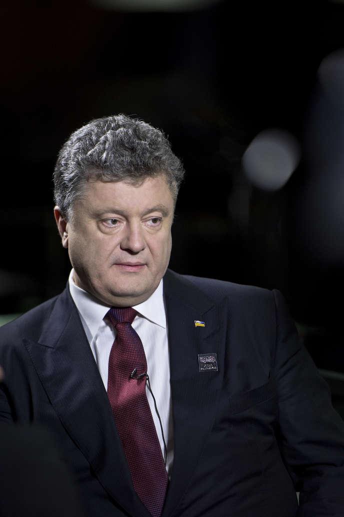 Le président ukrainien, Petro Porochenko, lundi 19janvier, à l'université de Zurich.