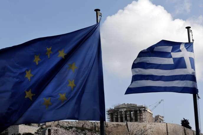Devant le Parthénon, à Athènes, le 20 janvier 2015.