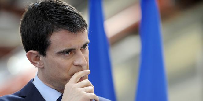 Le premier ministre Manuel Valls, le 16 janvier à Ergué-Gabéric.