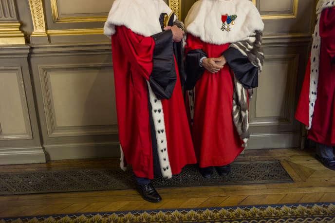 Des magistrats au Palais de justice de Paris, le 29 octobre 2014.