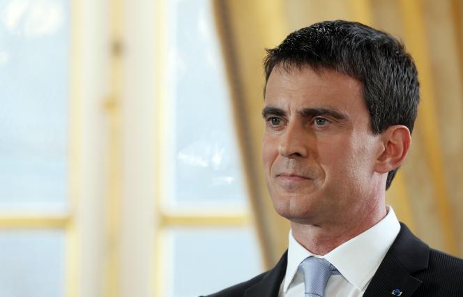 Le premier ministre, Manuel Valls, lors de ses vœux à la presse, mardi 20 janvier, à Paris.