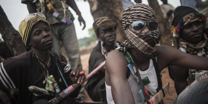 Des miliciens anti-balaka à Bambari, le 31 juillet 2014.