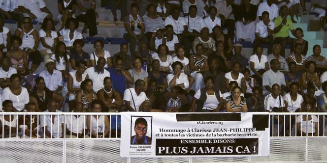 Hommage à Clarissa Jean-Philippe le 18 janvier à Saint-Marie en Martinique.
