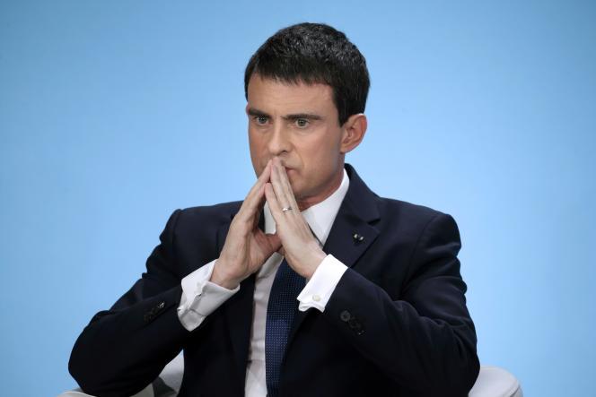 Le premier ministre, Manuels Valls, lors de ses voeux à la presse, le 21 janvier.
