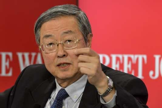 Zhou Xiaochuan, gouverneur de la banque centrale chinoise, le 21 janvier au Forum de Davos.