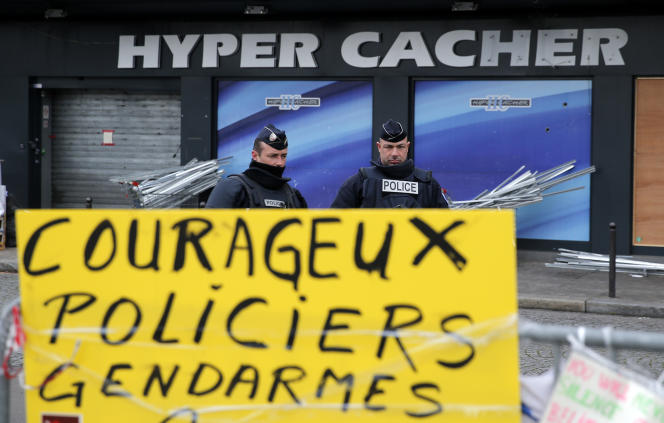 L'hyper cacher au lendemain de  l'attentat commis par Coulibaly