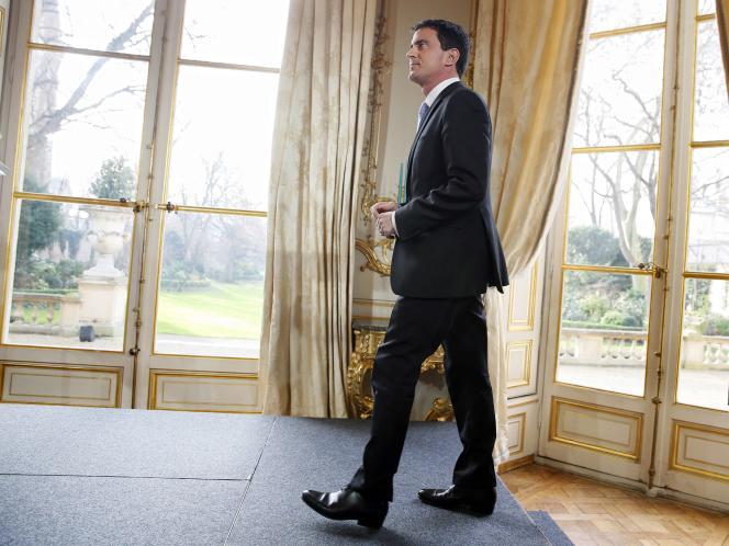 Manuel Valls lors des vœux à la presse, mardi 20 janvier.