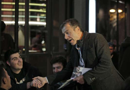 Stavros Theodorakis, chef du parti To Potami, à Athènes, le 21 janvier 2015.