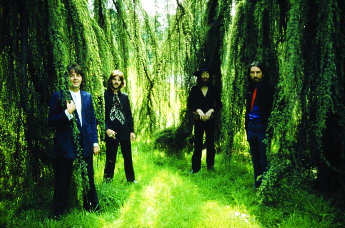 Les Beatles, lors d'une séance photo dans Tittenhurst Park, à Ascot (Berkshire), le 22 août 1969.