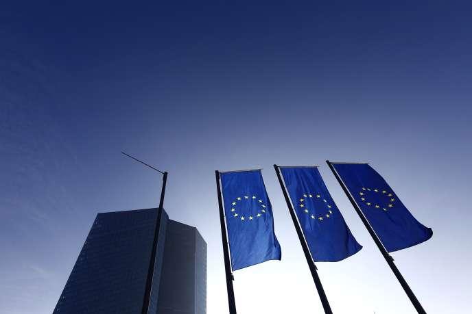 Banque centrale européenne, à Francfort.