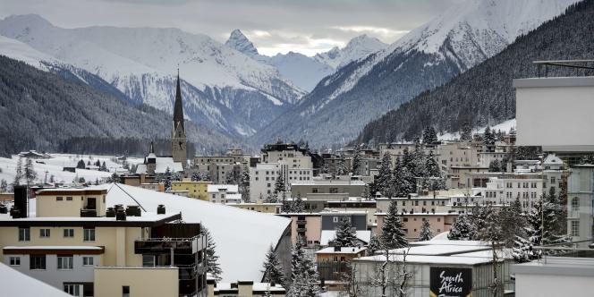 La petite station de Davos, dans l'est de la Suisse.