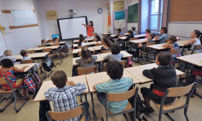 Ecole primaire à Bordeaux, le 4 septembre 2012.