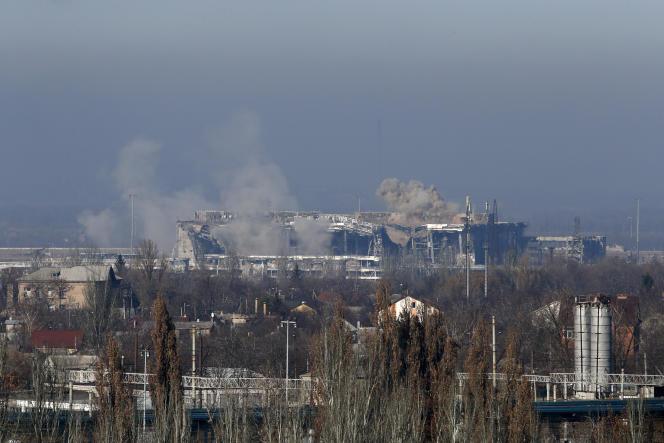 Le nouveau terminal de l'aéroport de Donetsk, lieu des combats les plus intenses.