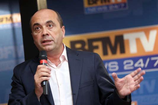 Herve Beroud, directeur de l'information de BFM TV, en août 2013.