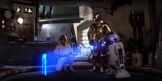 Dans «Star Wars», le droïde R2D2 projette un message holographique de la princesse Leia.