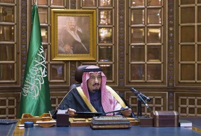 Le roi Salman, successeur depuis vendredi 23 janvier 2015, d'Abdallah, décédé la veille, à Riyad.