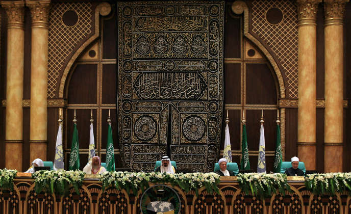 Le roi Abdallah Ben Abdel Aziz Al-Saoud préside l'ouverture de la Conférence islamique internationale de La Mecque, en 2008.