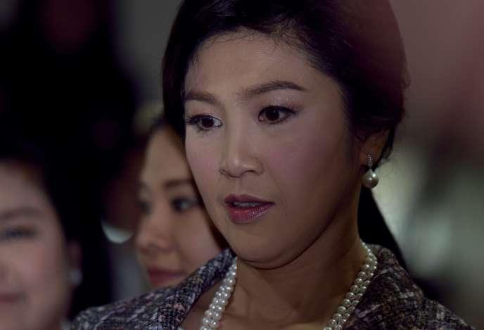 L'ancienne premier ministre thaïlandaise Yingluck Shinawatra, à Bangkok, le 23 janvier.