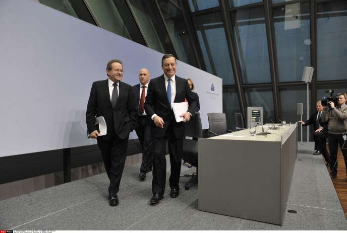 Mario Draghi, le 22 janvier à Francfort.