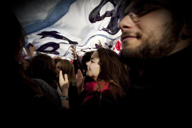 Un meeting de Syriza, le 22 janvier à Athènes.