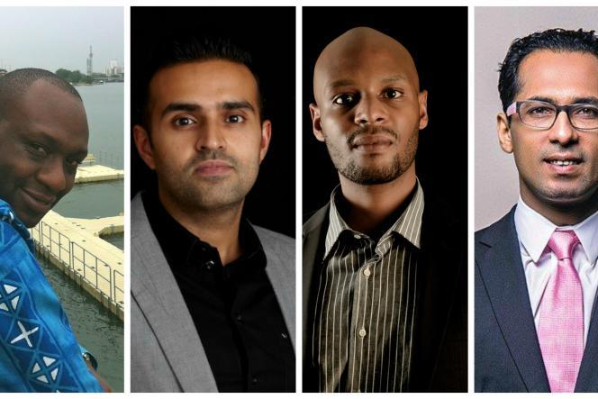 De gauche à droite, Ken Njoroge, Ashish Thakkar, Patrick Ngowi et Mohammed Dewji, les entrepreneurs les plus riches de l'Afrique de l'Est.