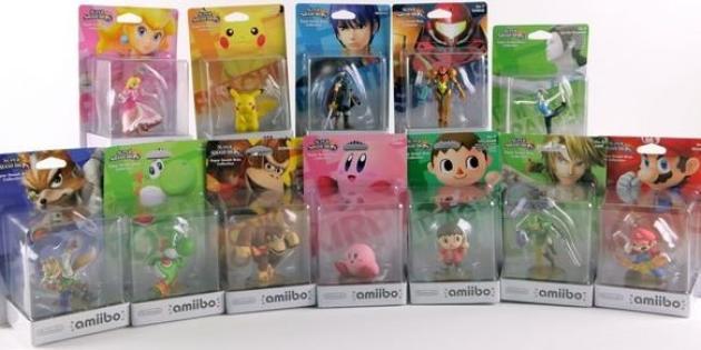 La collection initiale d'Amiibo. Certains ont vite été en rupture de stock.