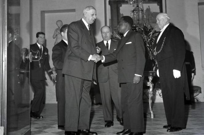 Charles de Gaulle et Félix Houphouët-Boigny le 17 janvier 1961, au palais de l'Elysée.