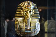 Le célèbre masque de Toutankhamon, au musée du Caire.