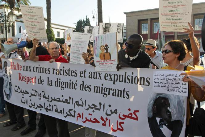 Une manifestation contre le racisme, le 11 septembre 2014 à Rabat.