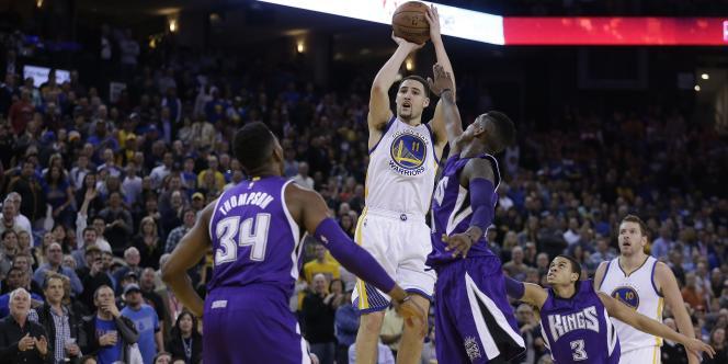 Le joueur de Golden State, Klay Thompson, a survolé la rencontre face aux Sacramento Kings, vendredi 23 janvier.