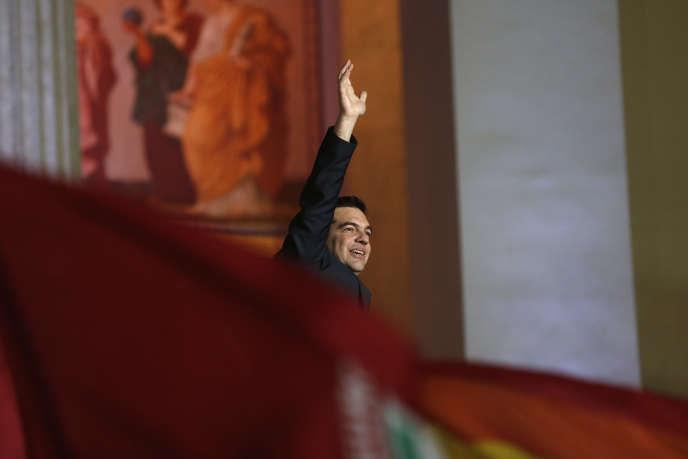 Le leader de Syriza Alexis Tsipras au soir de sa victoire le dimanche 25 janvier.