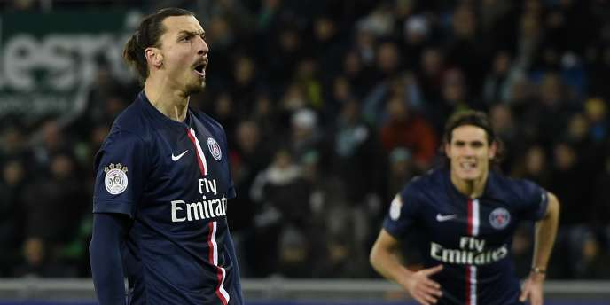 Zlatan Ibrahimovic, après son but victorieux contre Saint-Etienne (-0), lors de la 22e journée de Ligue 1.