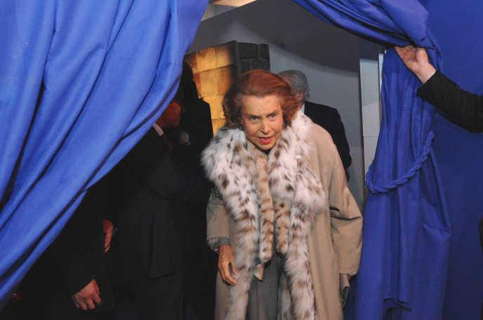 Liliane Bettencourt, en 2009 à Paris.