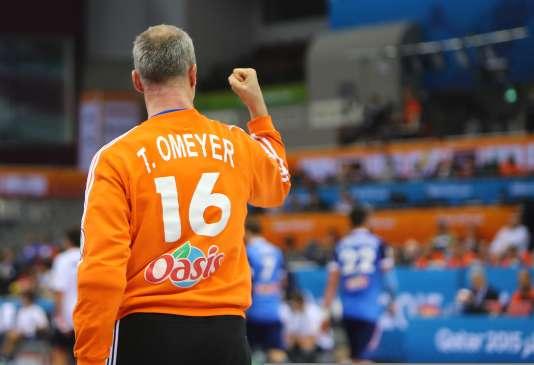 Le gardien français Thierry Omeyer, le 26 janvier à Doha.