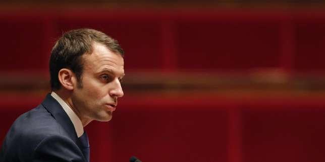 Emmanuel Macron à l'Assemblée nationale, le 26 janvier 2015.