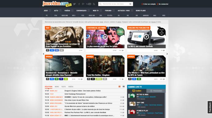 Jeuxvideo.com, site racheté par Webedia