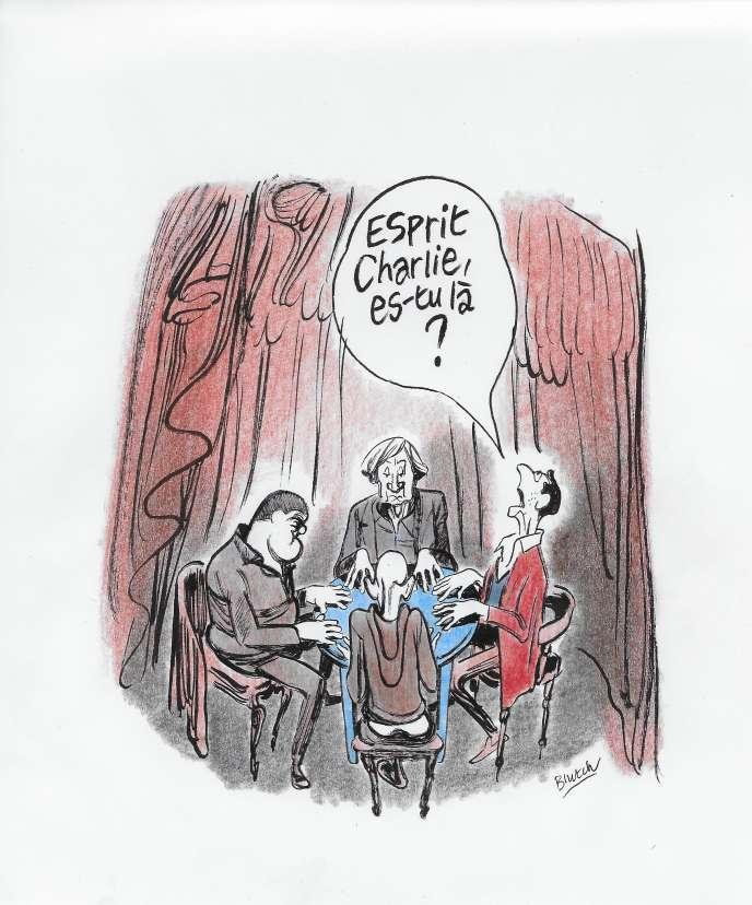 Illustration : « Dessinateurs au travail », inédit de Blutch pour « Le Monde des livres ».