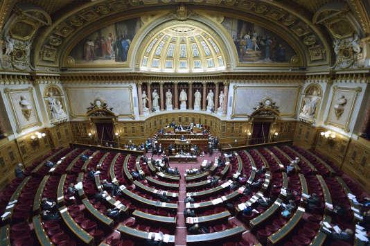 Une vue de l'hémicycle du Sénat, à Paris, en 2012.
