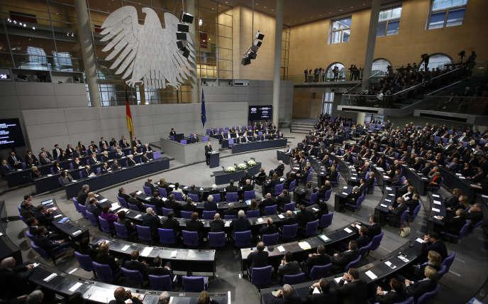 Au Bundestag, le 27 janvier.