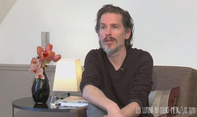 Le cinéaste Antoine Boutet lors d'un entretien vidéo pour