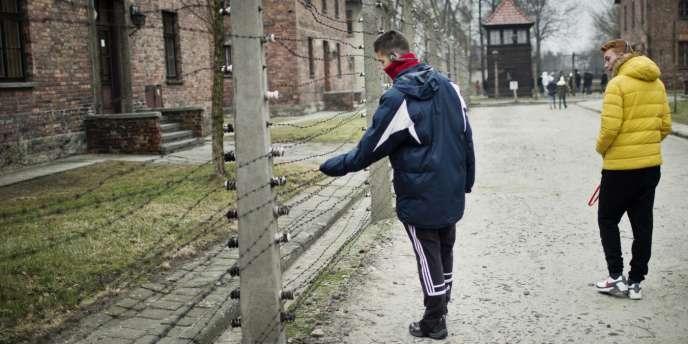 Dans le musée du camp de Birkenau, le 22 janvier. En 2014, 1,5 million de personnes l'ont visité.