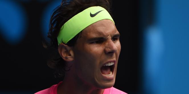 Rafael Nadal, pendant son match avec Tomas Berdych, à Melbourne, le 27 janvier 2015.