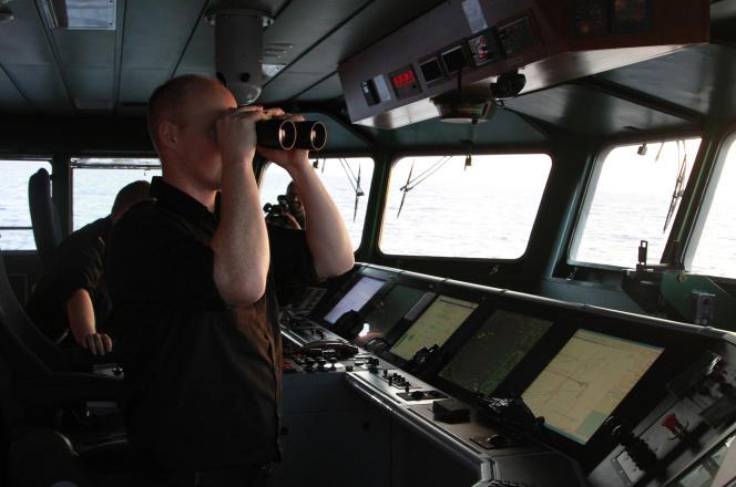 Des gardes-côtes islandais engagés dans l'opération européenne Triton, le 14 janvier au large de la Grèce et de l'Italie.