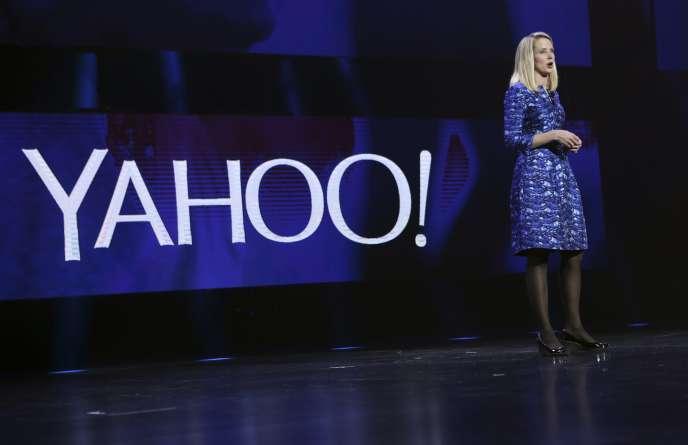 La PDG de Yahoo! Marissa Mayer, lors d'une conférence auConsumer Electronics Show de Las Vegas, en 2014.